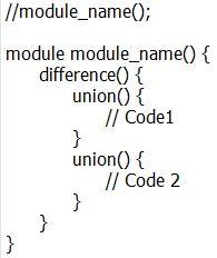 OpenSCAD script template