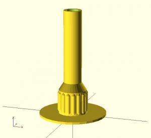 Z Handle in OpenScad
