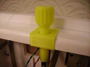 3D Printer Plastic Z Handle Fitted