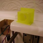 3D Printer Z Handle Cut Out With Plastic Printed Bezel