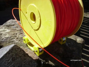 Reel Rollers with 2KG plus PLA Filament loaded