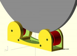 Reel Roller OpenSCAD Model