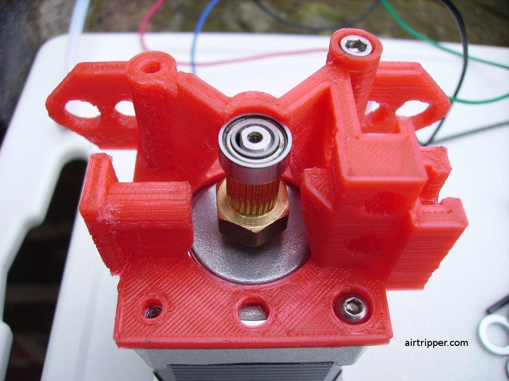 3D Printer Extruder Base and Stepper Motor Assembly