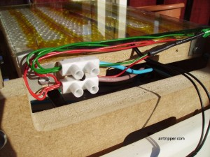 Heated build platform and wiring close up