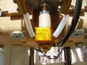 3D Printer Extruder Hot End Close Up