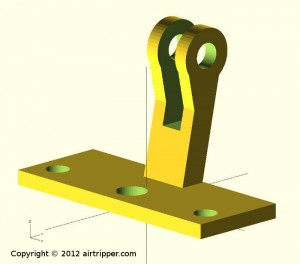 OpenSCAD 3d model of dial test indicator bracket