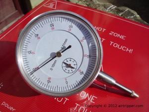 Outer measuring dial test indicator range 0-10mm, resolution 0.01mm