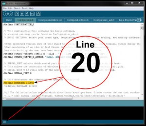 Arduino 0023 IDE - showing line number location
