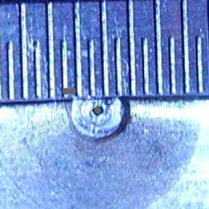 J-Head MK-IV Clone. View of a Poorly drilled Orifice