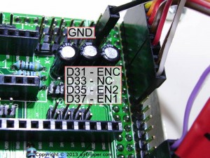 RAMPS 1.3 Click Encoder Pin Connections