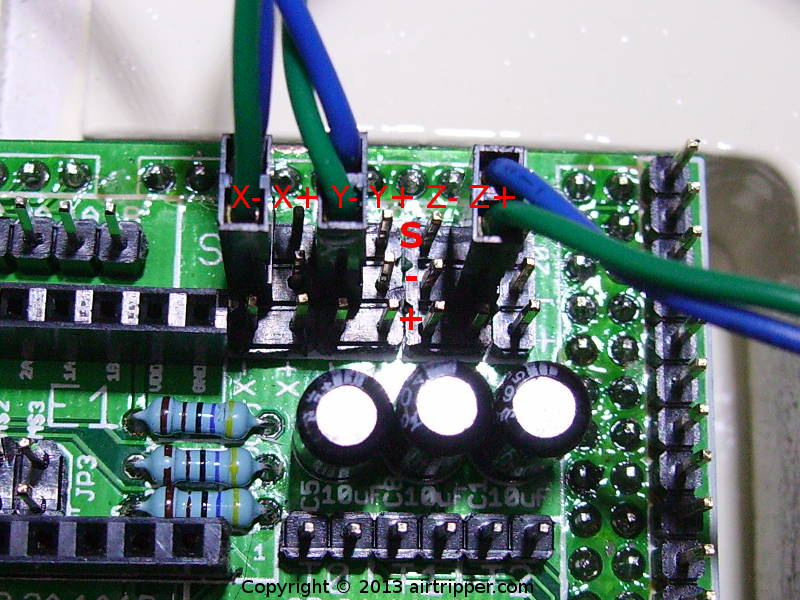 RAMPS 1.3 Mechanical End Stop Connections X-, Y- & Z+