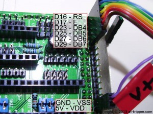 RAMPS 1.3 to LCD Pin Connections