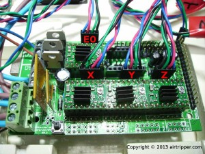RAMPS 1.3 Stepper Motor Wire Connections
