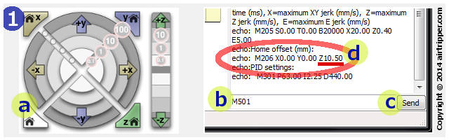 Check Current Home Offset Setting Stored In EEPROM